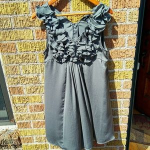 H&M size 10 floaty green dress with ruffles